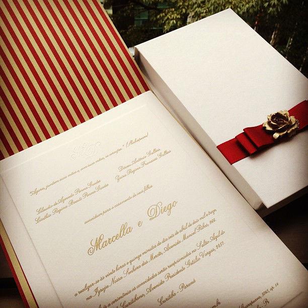 CDAM Design - convite e caixa para padrinhos.