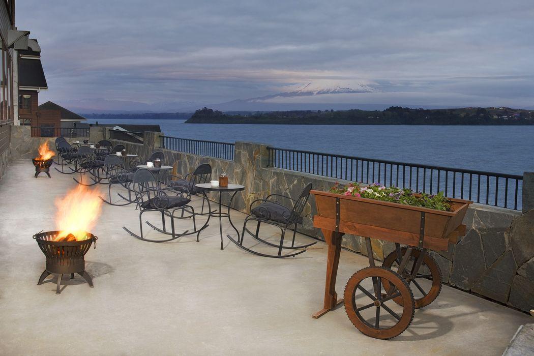 terraza vista al Lago Llanquihue