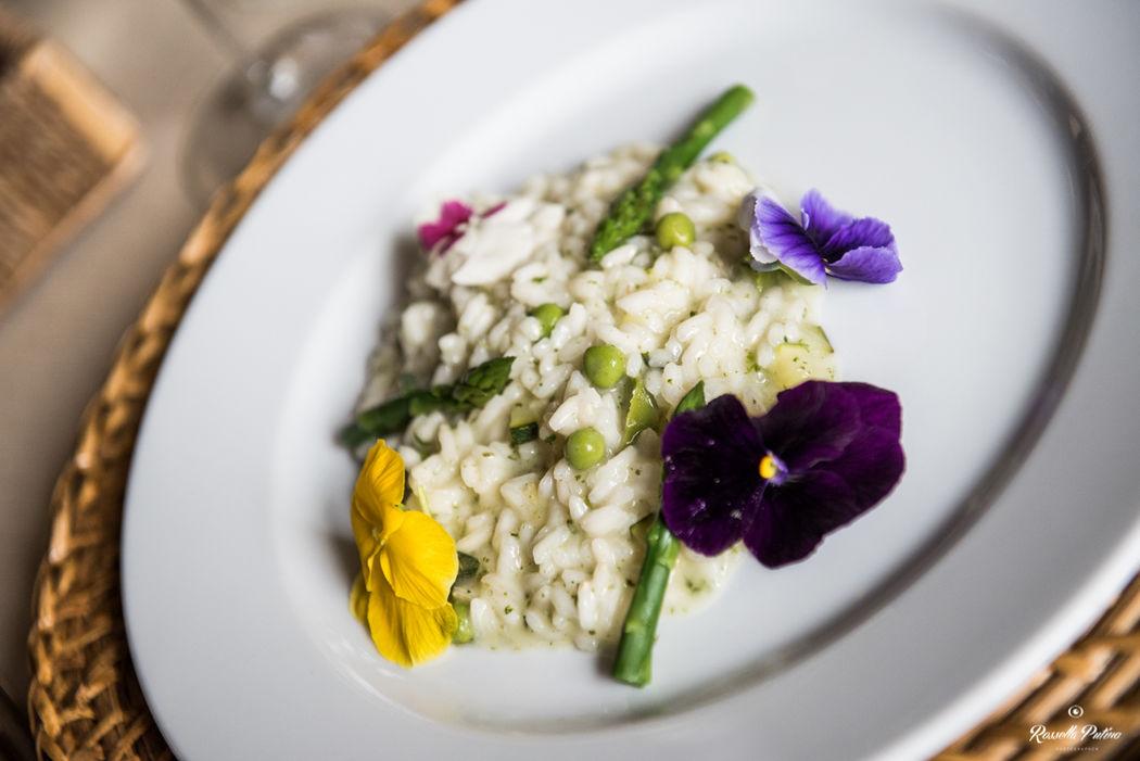 risotto fiori e asparagi