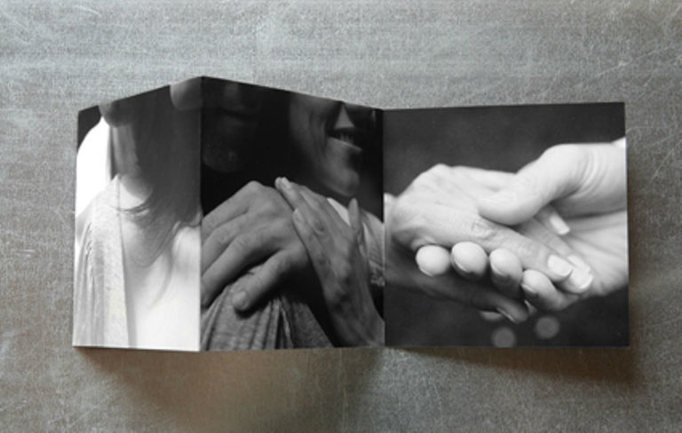 Beispiel: 3teilige Leporello, Foto: tellme.