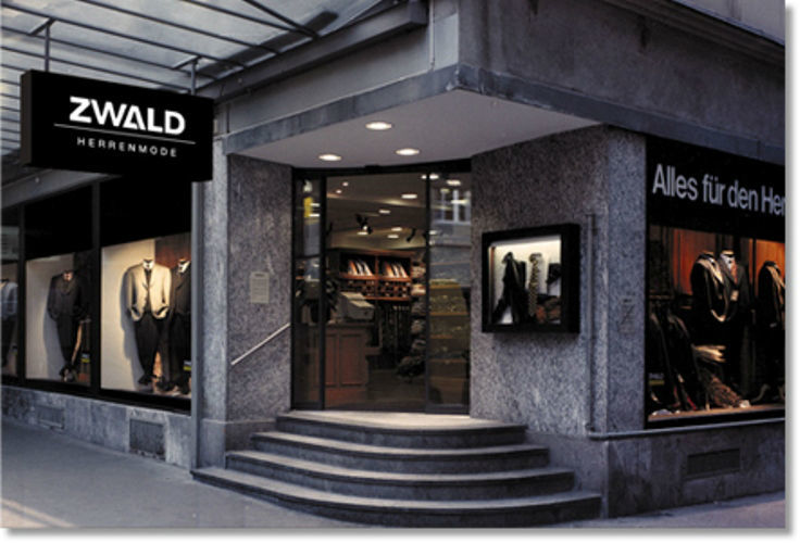 Beispiel: Herrenmodegeschäft, Foto: Zwald.