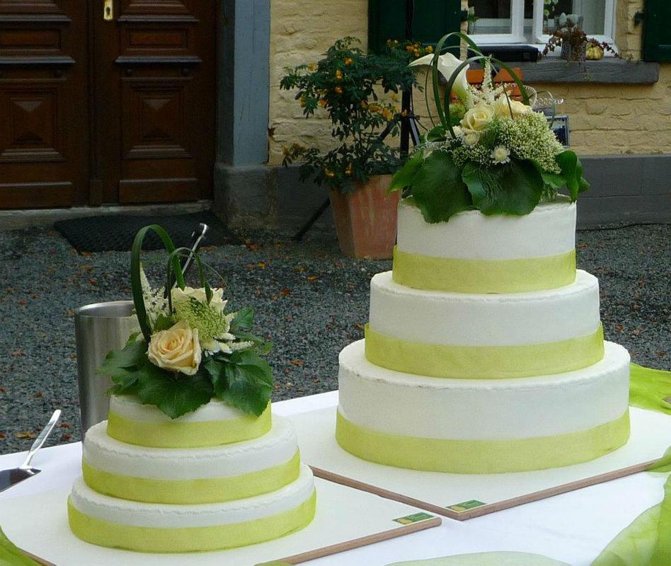 Beispiel: Hochzeitstorten, Foto: Kupfersiefer Mühle.