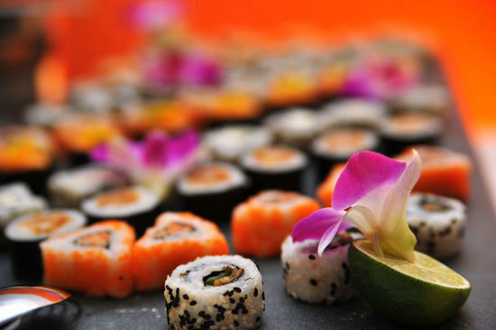 Beispiel: Serviervorschlag - Sushi, Foto: Teepott-Restaurant.