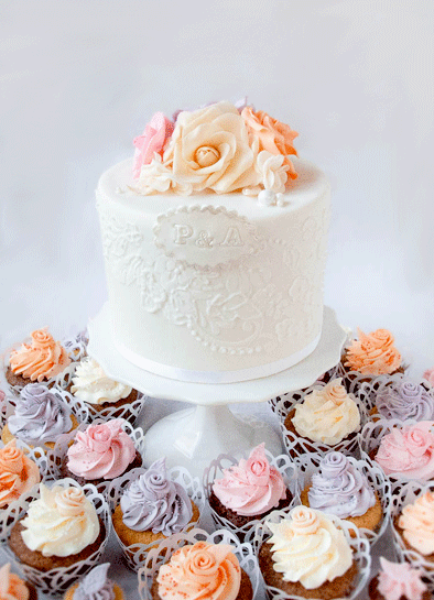 Lace Wedding Top Cake