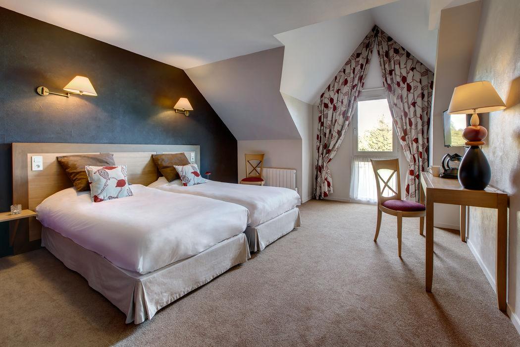 Le complexe hôtelier des Ormes : ses chambres d'hôtel refaites à neuf en 2016.