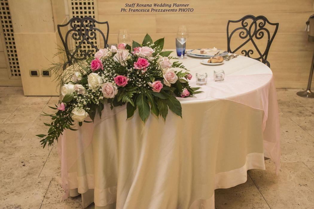 Allestimento tavoli Sposi