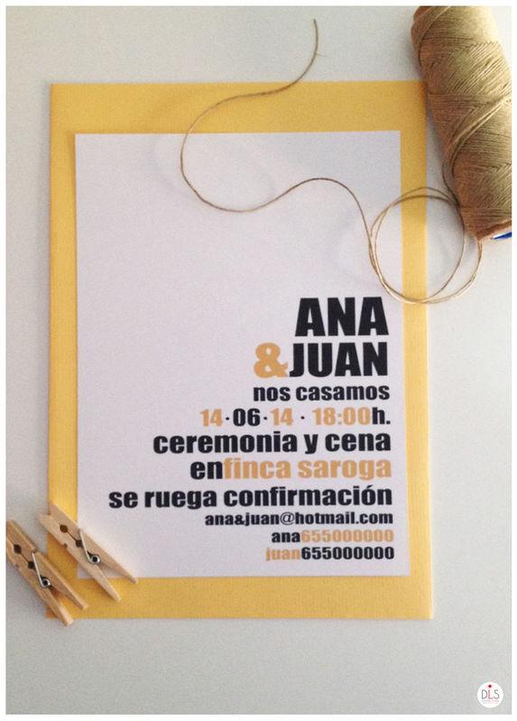 Invitación tipográfica