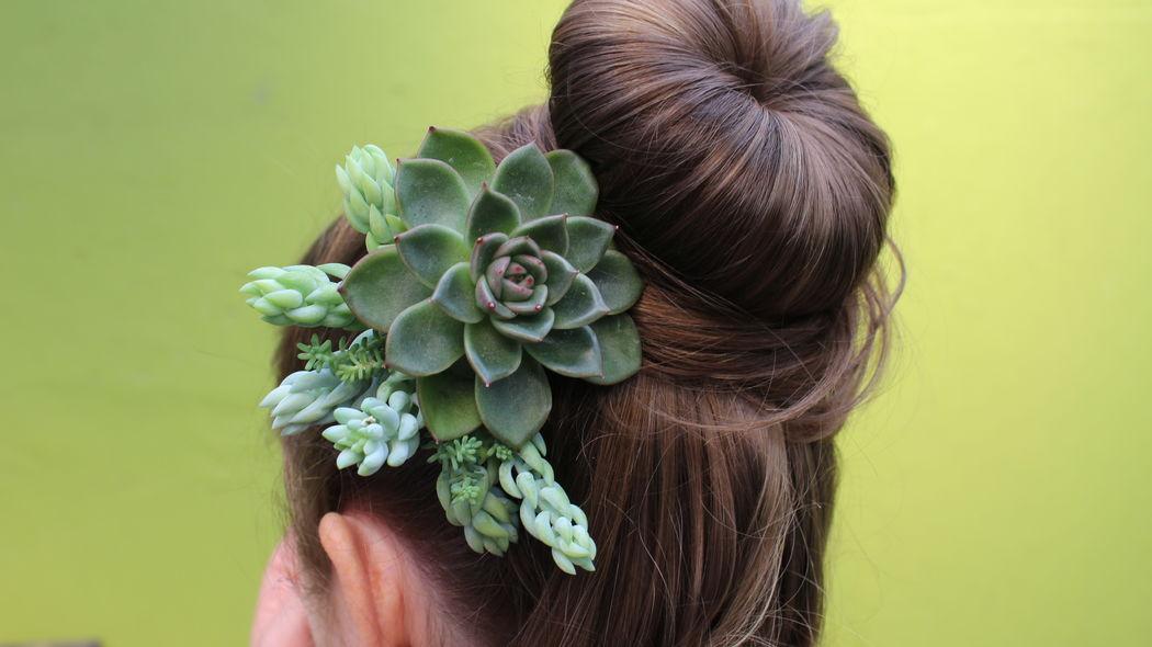 Arranjo para cabelo noivas e madrinhas