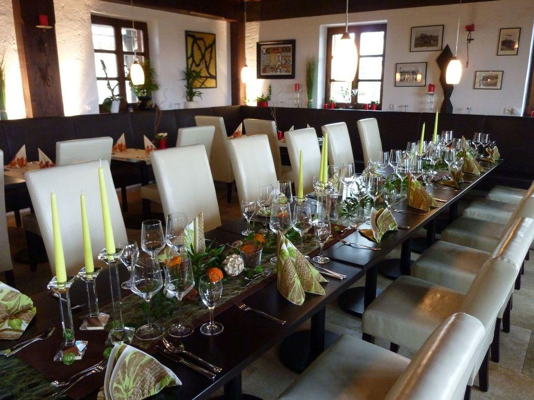 Beispiel: Rittersaal, Foto: Restaurant Touché - Burg Hartenstein.