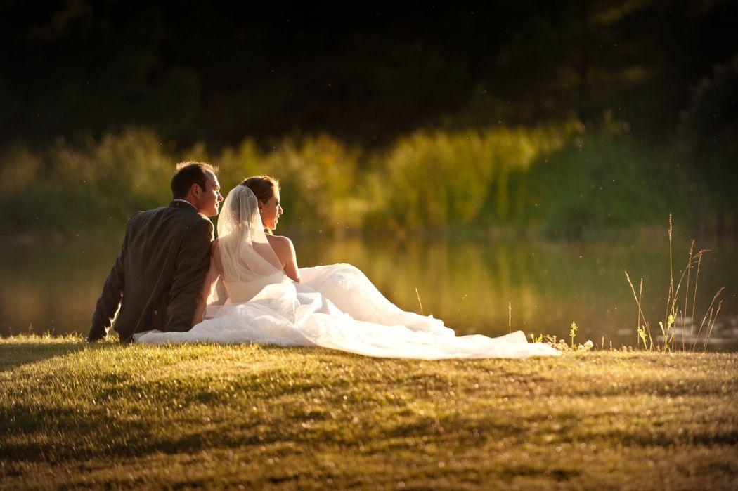Moment de détente sur l'herbe