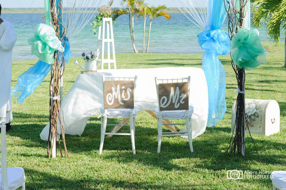 Paraiso Bacalar el Marco perfecto para la recepción de su boda.