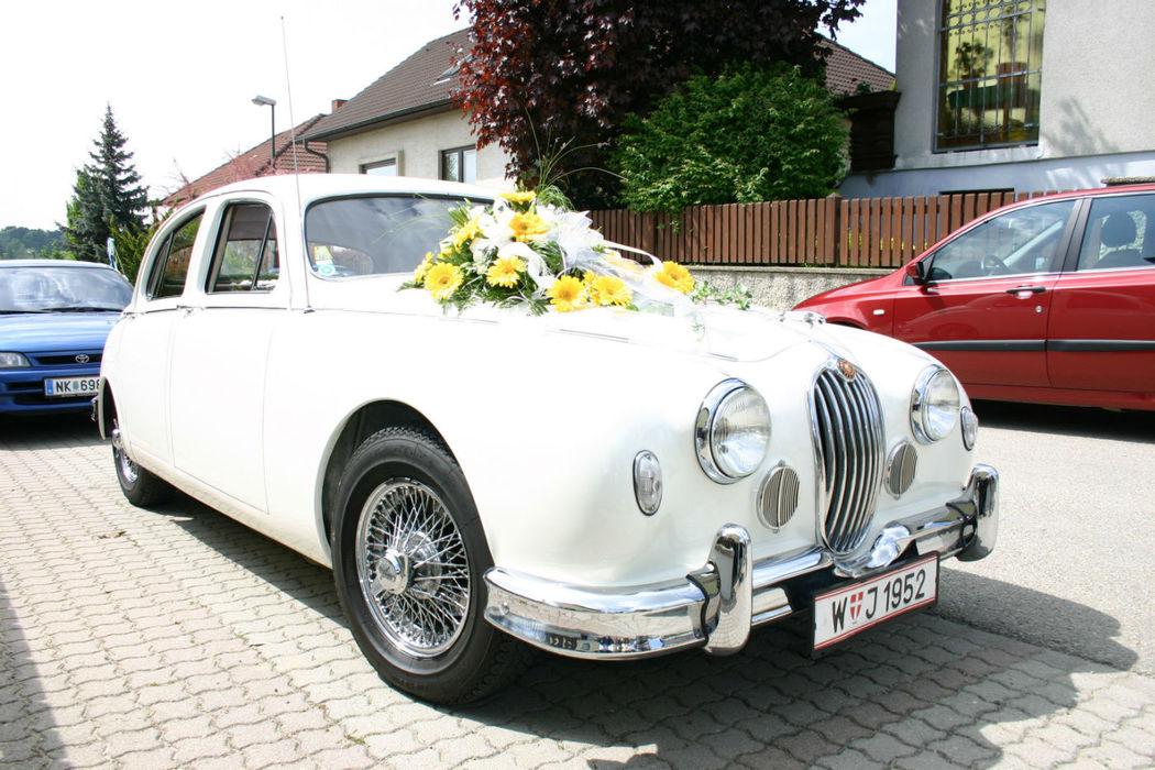 Beispiel: Ein Oldtimer zur Hochzeit, Foto: Oldtimer-Wien.