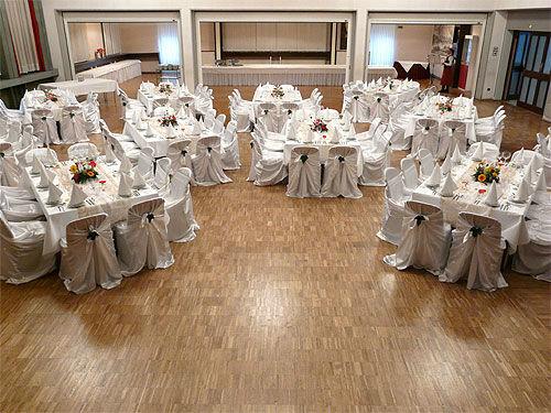 Beispiel: Hochzeitsdekoration, Foto: Sängerhalle Untertürkheim.