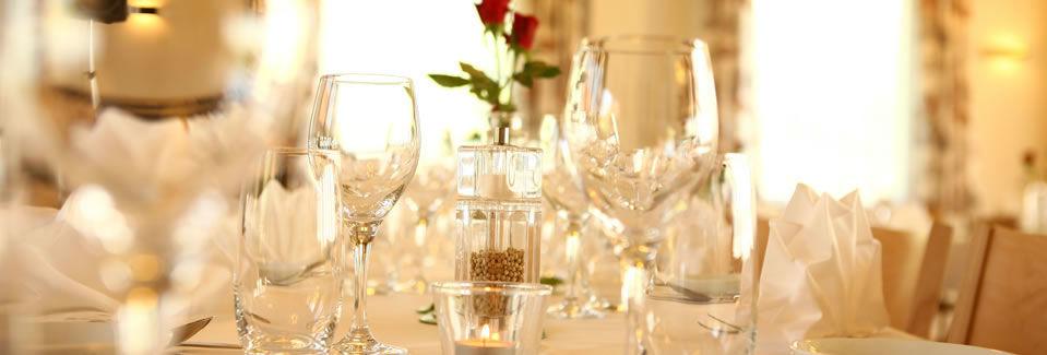 Beispiel: Tischdekoration, Foto: Landgasthof Grossteil.