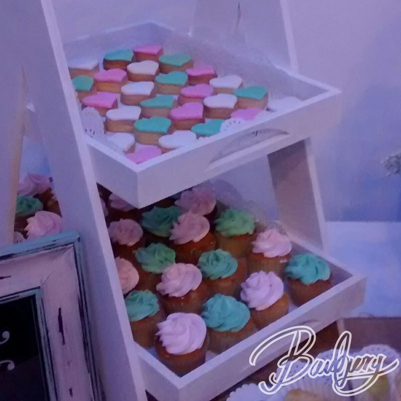 Mini cupcakes y mini galletas