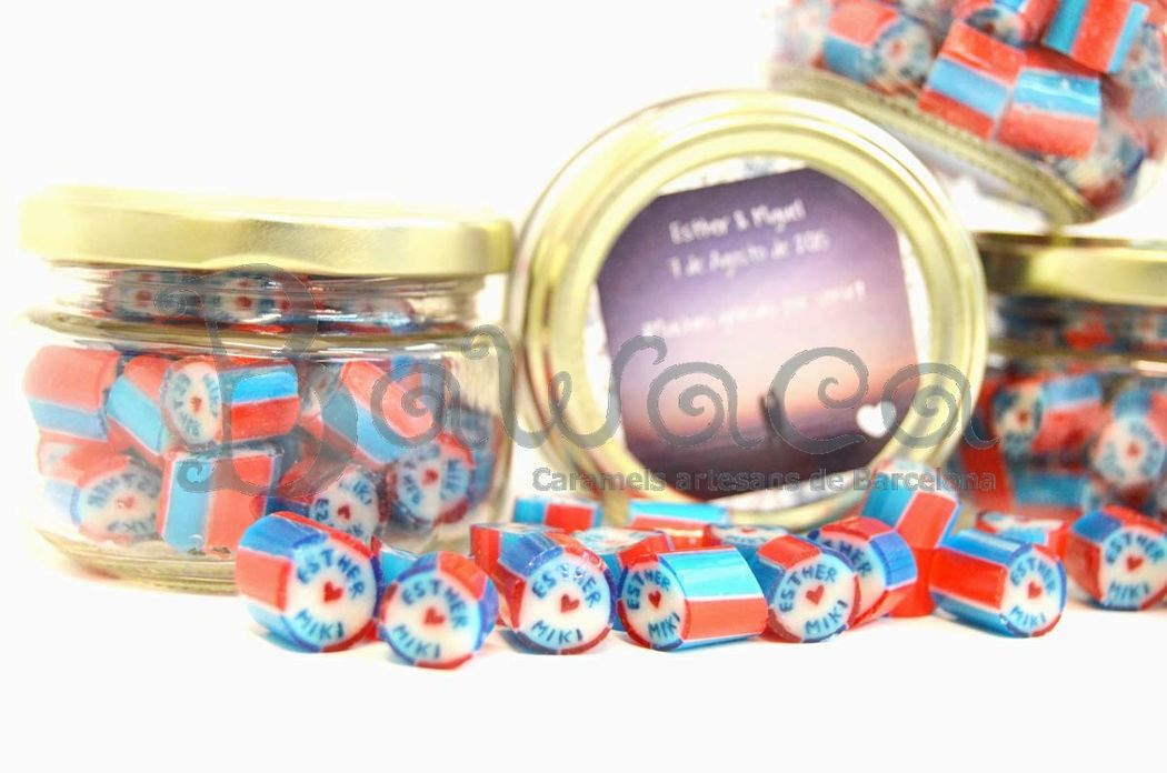 Caramelos personalizados en bote de 80 gr
