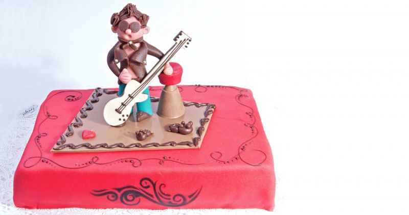 Beispiel: Kreative Torte, Foto: Confiserie Freya.