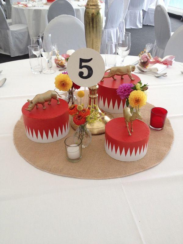 Beispiel Tischdekoration  Circus Wedding Party On!