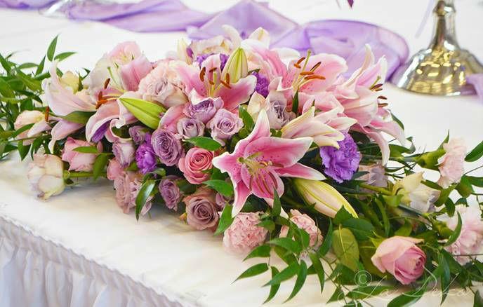 Beispiel: Wunderschöner Blumenschmuck, Foto: La Deko.