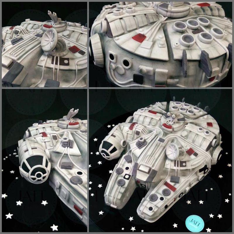 Pastel 3D del Alcón Milenario de StarWars