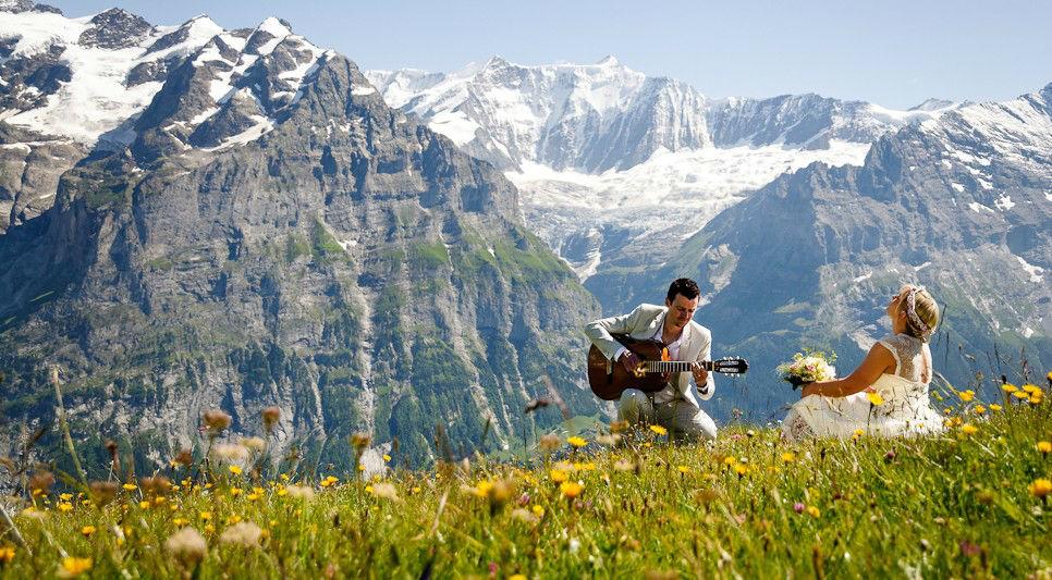 Beispiel: Kreative Ideen, Foto: Switzerland Wedding Company.