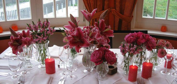 Beispiel: Hochzeitsdekoration, Foto: Blumenbinder Trittmacher.