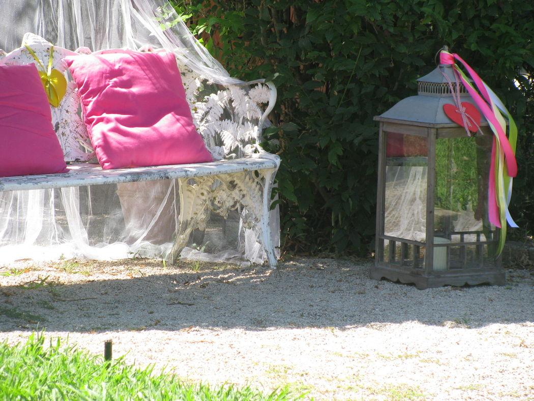 Canapé no jardim
