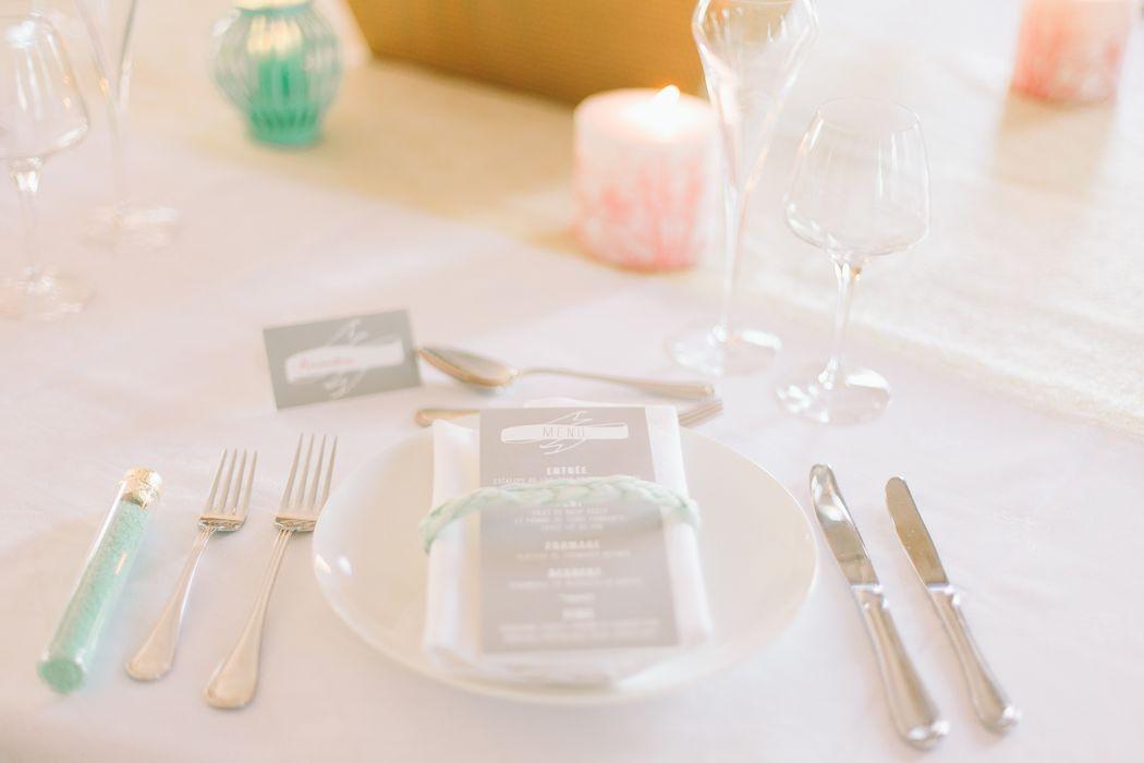 Détails décoration de table