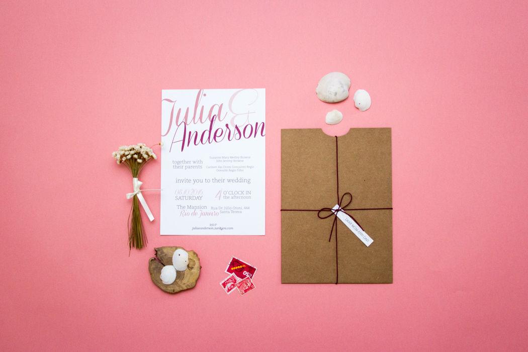 Convite Julia e Anderson