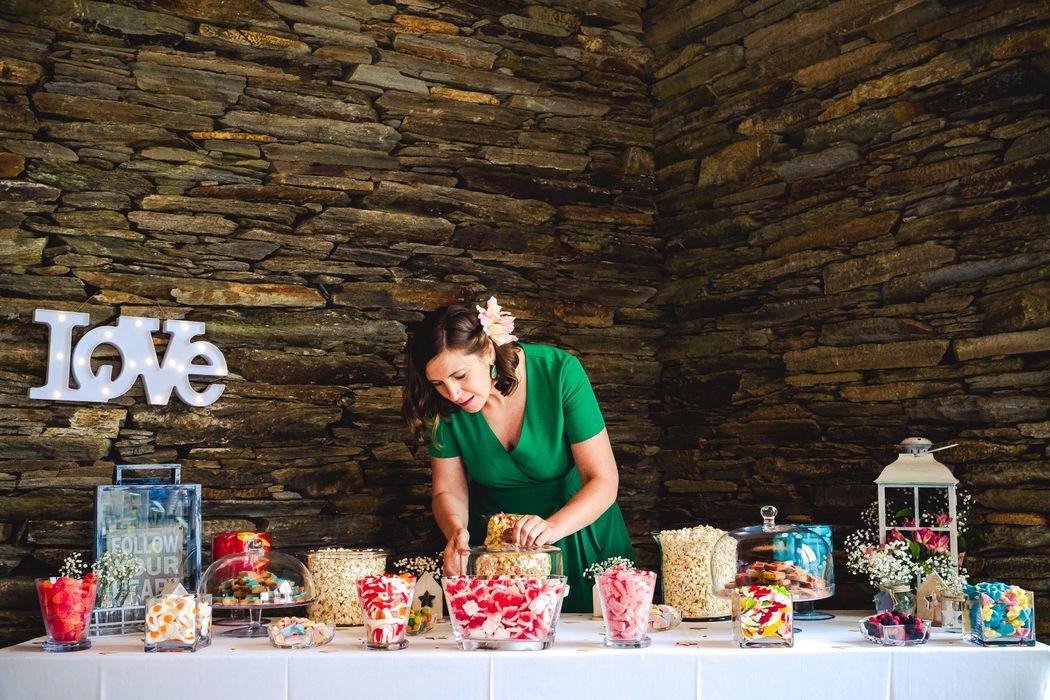 Candy table romántica