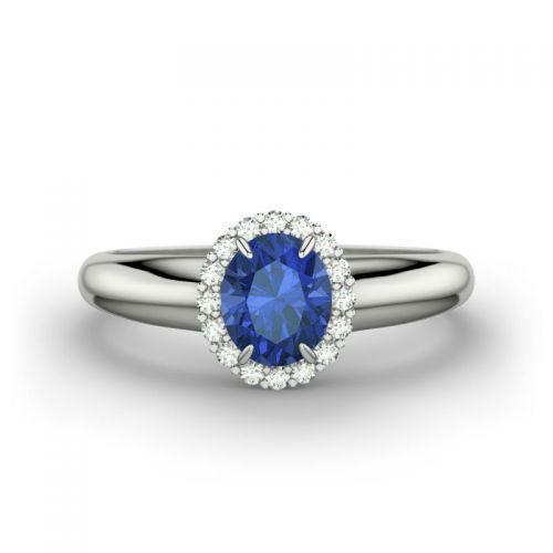 Beispiel: Kate - Weißgold, Saphir, Foto: 21 Diamonds.