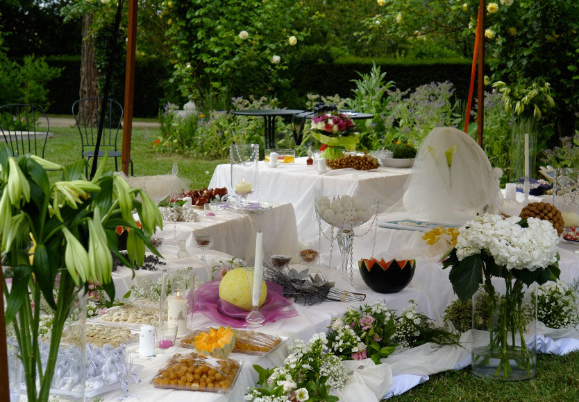 Good Moon - Présentation pour les Mariés: Cadeaux, Gâteaux et fruits  pour Mariage Libanais