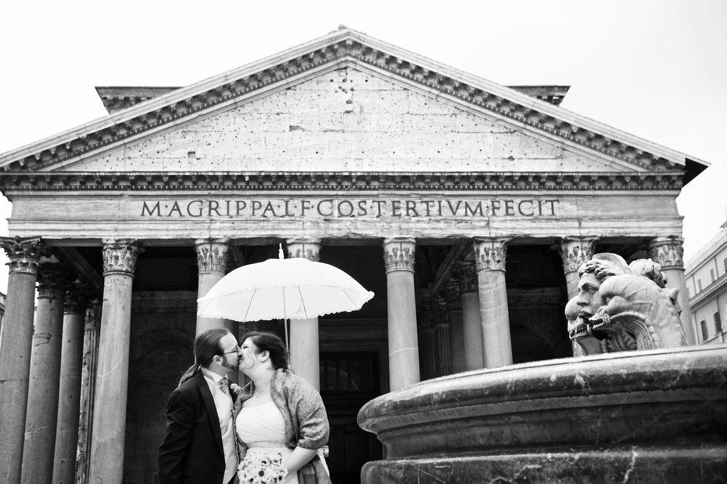 Nathan&Britten, from Oregon. Symbolic Ceremony. Rome Fontana di Trevi