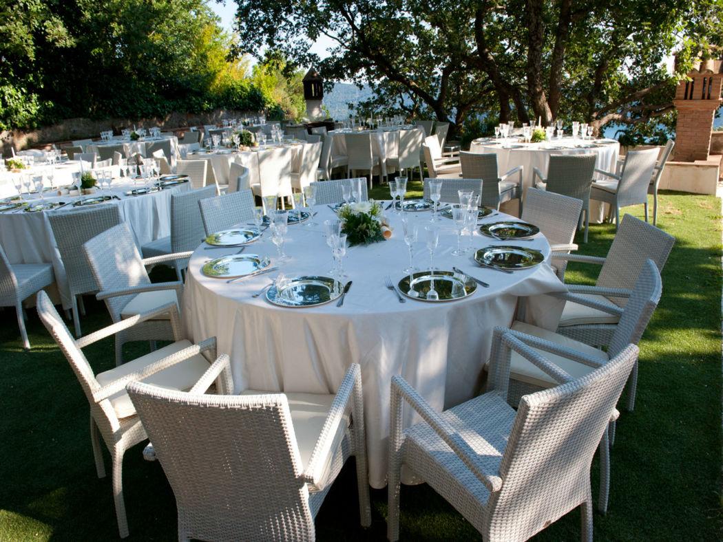 La Locanda del Pontefice giardino mise en place