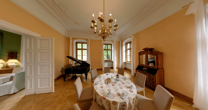 Beispiel: Musiksaal, Foto: Schloss Proschwitz.