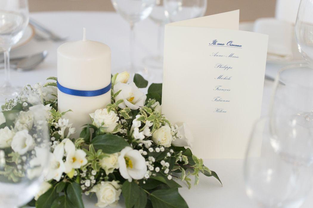 couronne table invité
