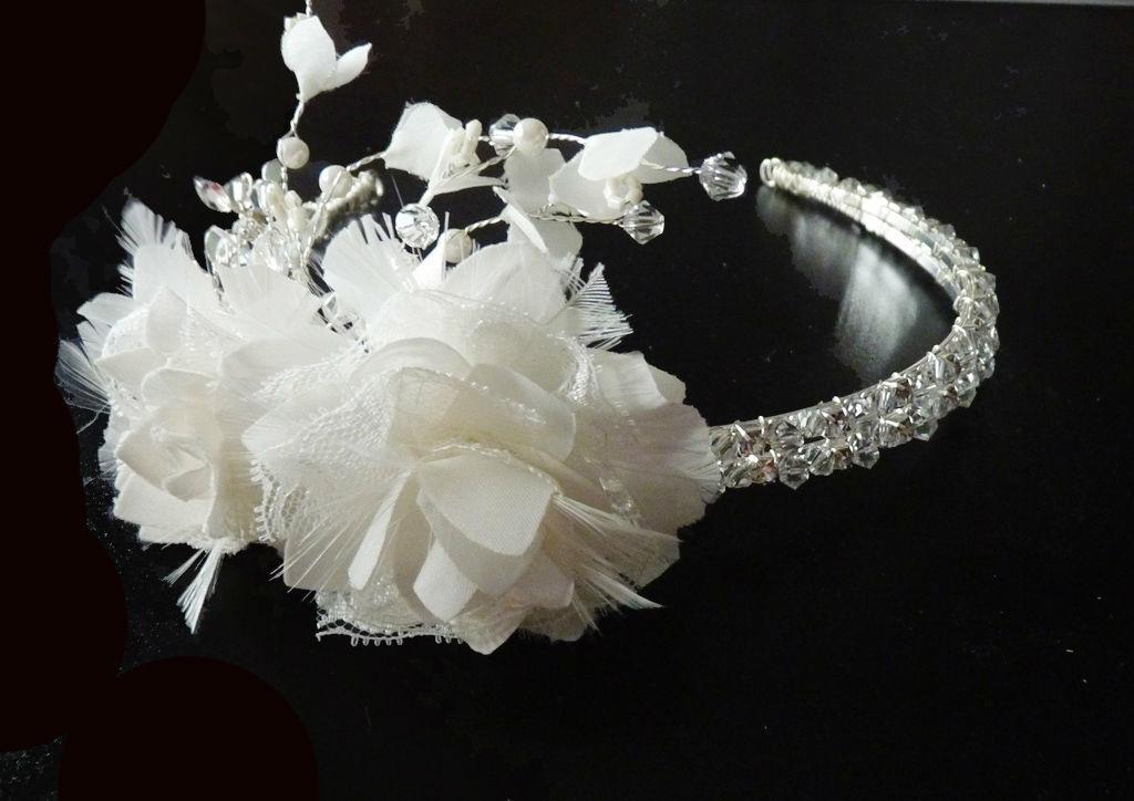 Seiden Spitzenblüten Haarschmuck Kollektion Couture