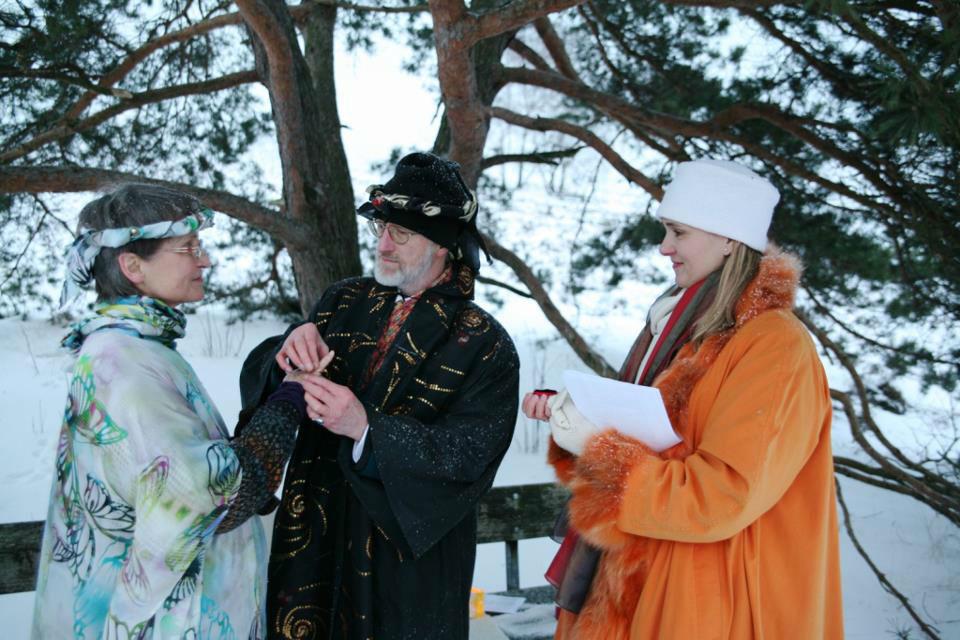 Beispiel: Trauung auch im Winter, Foto: Rederei Kathrin Wenzel.