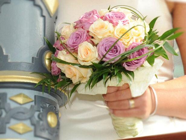 Beispiel: Wunderschöne Hochzeitsfloristik, Foto: Blumenkiste.