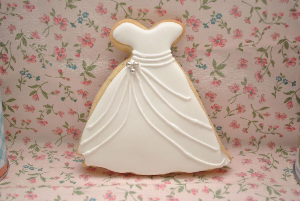 Galleta vestido de novia
