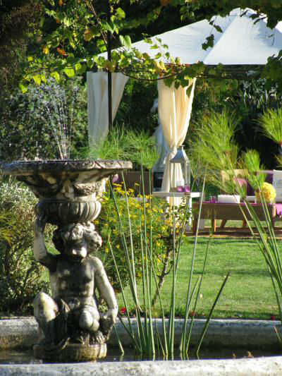 Jardim principal da Quinta