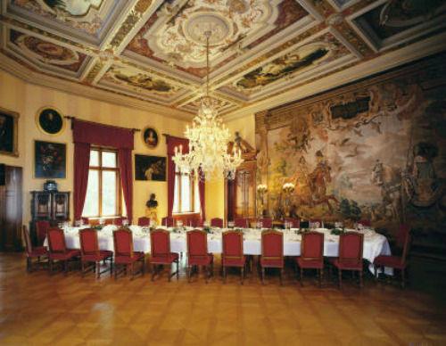 Beispiel: Großes Esszimmer, Foto: Thurn und Taxis Schloss St. Emmeram.