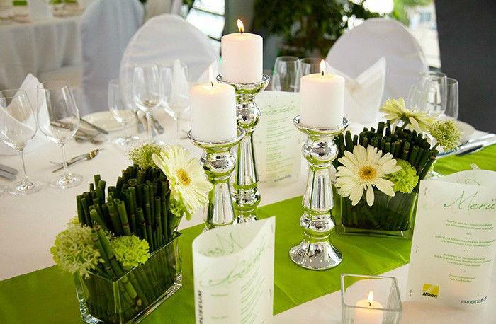 Beispiel: Tischdekoration, Foto: FPS Catering.
