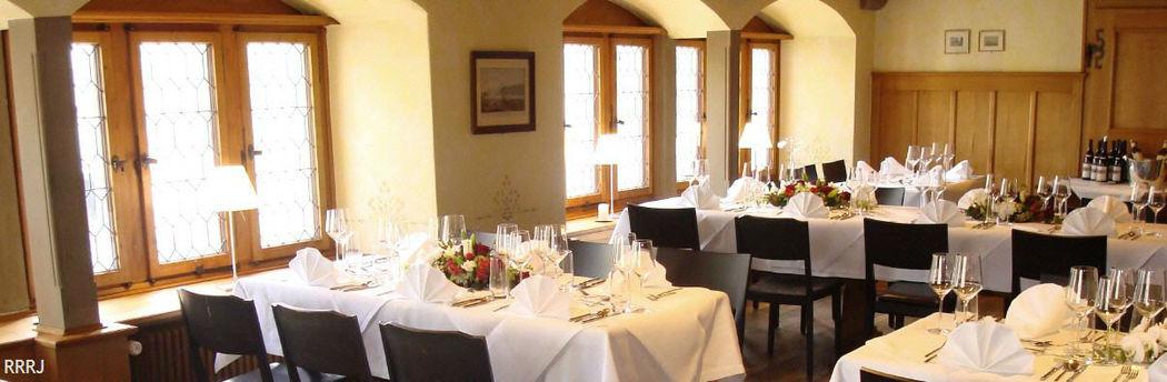 Beispiel: Hochzeitsgedeck, Foto: Restaurant Rathaus.