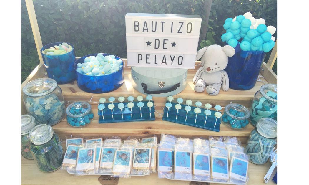 Candy bar tonos azules
