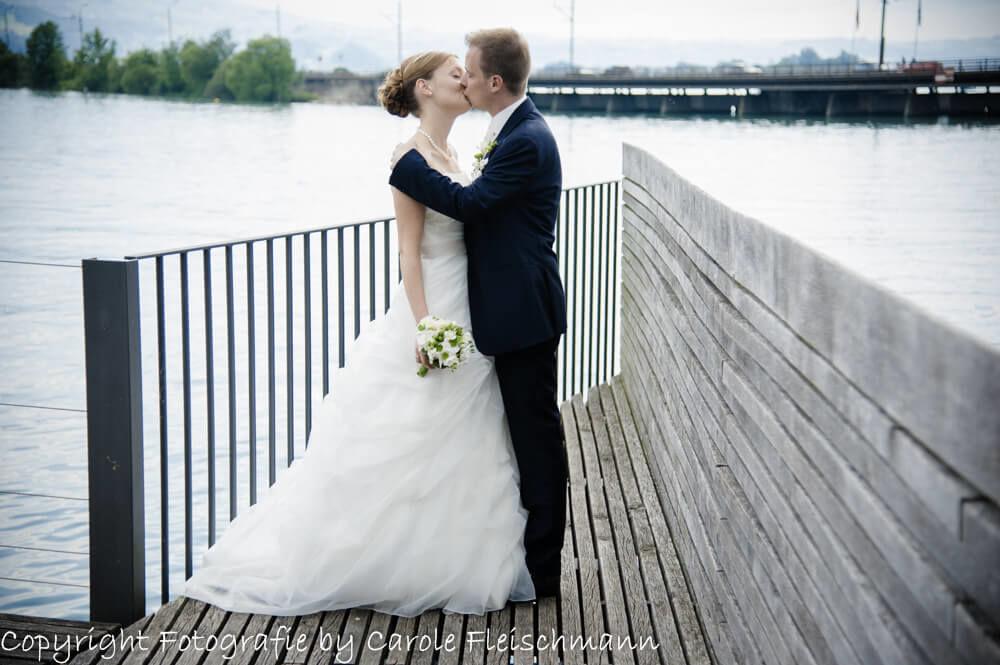 Beispiel:Heiraten in Rapperswil bietet wunderschöne Romantik,Foto:Carole Fleischmann Fotografie
