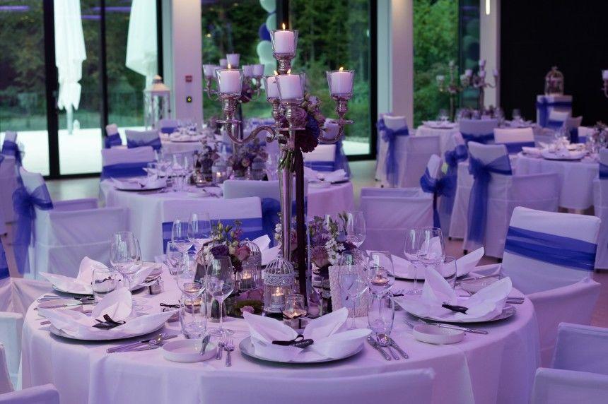 Tischdekoration: lila/violett