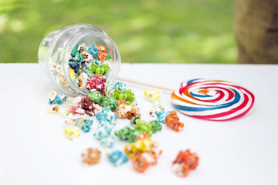 Detalle de la candy bar