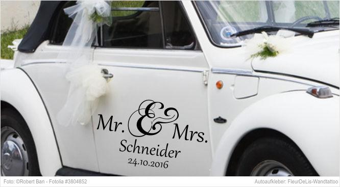 Autoaufkleber - Mr. & Mrs.