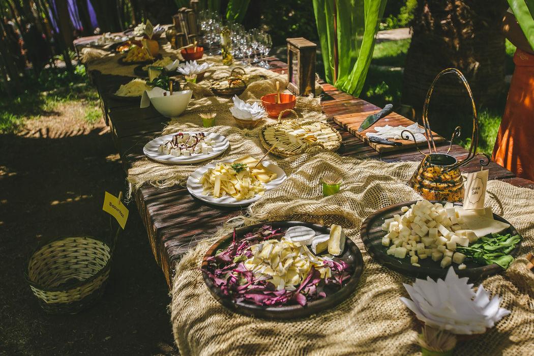 Estación de quesos y Late Harvest en La Arbequina